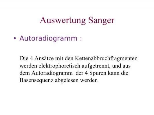 Auswertung Sanger • Dar