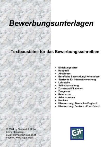 Textbausteine Für Bewerbungen Deutsch Englisch Neue Seite 2