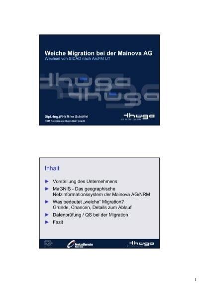 Weiche Migration Bei Der Mainova Ag Inhalt Pfalzwerke