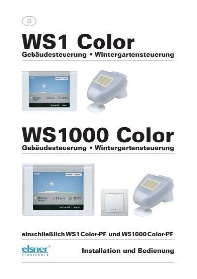 WS1 Color WS1000 Color - Markisen-kauf.de