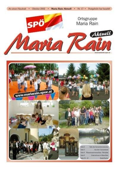 Maria rain singlebrsen kostenlos, Unterweitersdorf senioren