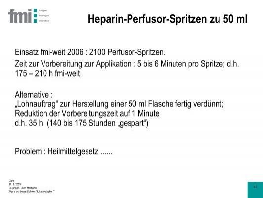 Weit Spritzen heparin perfusor spritzen