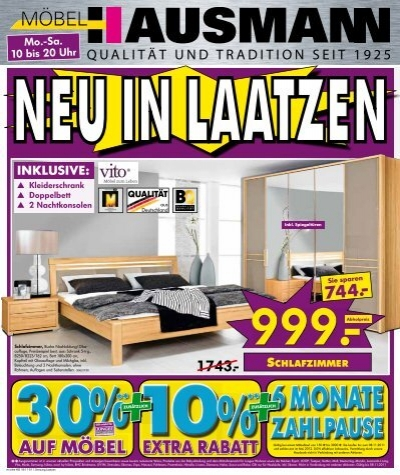 Möbel Hausmann Laatzen abholpreise je 69 möbel hausmann