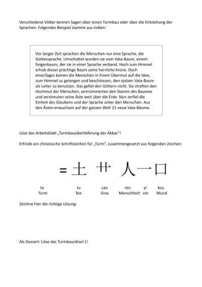 Großartig Chinesisches Schriftzeichen Arbeitsblatt Ideen ...