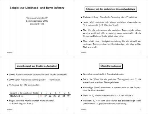 Beispiel zur Likelihood- und Bayes-Inferenz