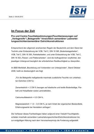 Pro U0026 Contra Feuchtebestimmungen/Feuchtemessungen Auf .