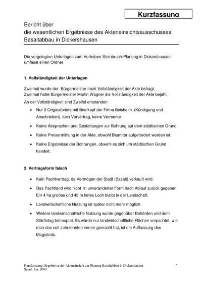 Kurzfassung Der Ergebnisse Homberger Hingucker