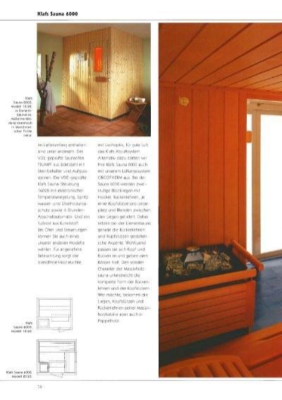 klafs sauna 6000 modell. Black Bedroom Furniture Sets. Home Design Ideas