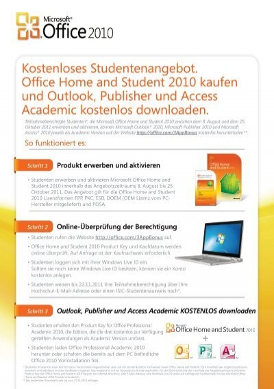 office 2010 home and student aktivieren