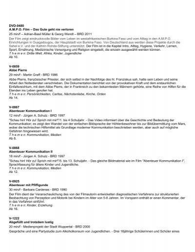und Katalog Video Bistum Erziehung Schule Münster DVD xroEWQeCdB