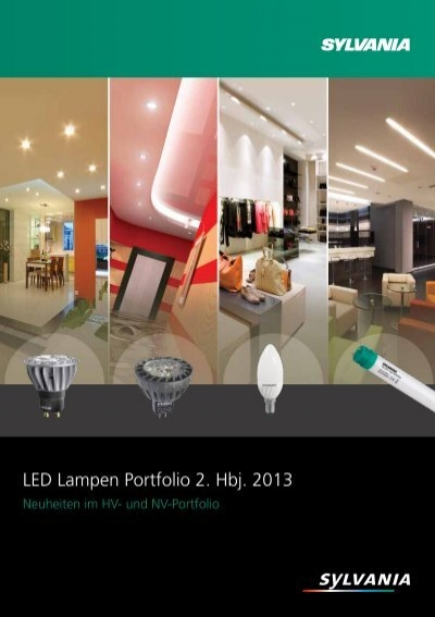 brosch re led lampen portfolio 2 hbj 2013 sylvania lichtklick. Black Bedroom Furniture Sets. Home Design Ideas