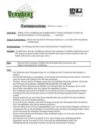 Download: BAS-Tortechnik Prüf- und Wartungsvertrag (Muster)