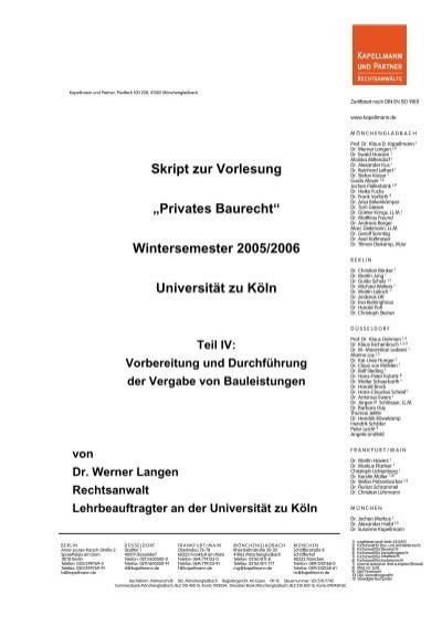 Unterrichtsskript Ws 05 06 Teil Iv Universitat Zu Koln