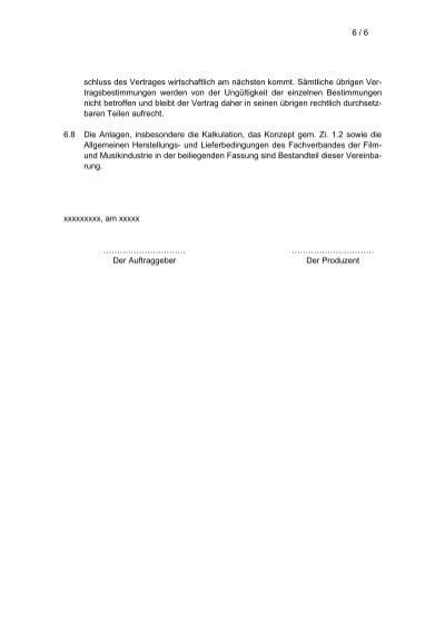 6 6schluss Des Vertrage