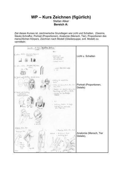WP – Kurs Zeichnen (figürlich) - OSZ Farbtechnik und Raumgestaltung
