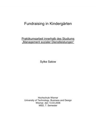 Fundraising In Kindergarten Kita Portal Mv