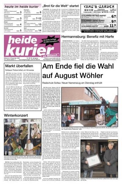 Am Ende Fiel Die Wahl Auf August Wohler