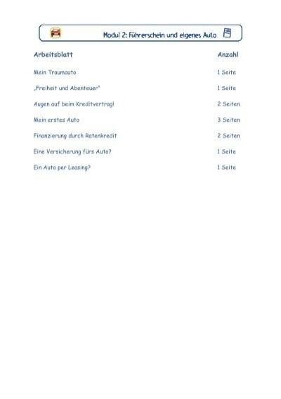 Arbeitsblatt Anzahl - Unterrichtshilfe Finanzkompetenz