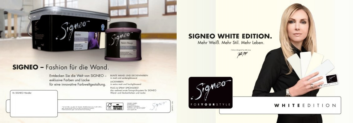 signeo fashion f r die wand signeo white edition. Black Bedroom Furniture Sets. Home Design Ideas