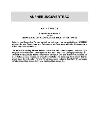 muster aufhebungsvertrag ihk mittlerer niederrhein - Aufhebungsvertrag Muster