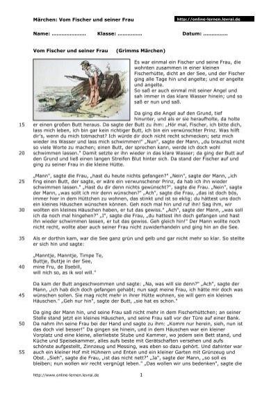 Monolog Frau Lot, Arbeitsblatt 3