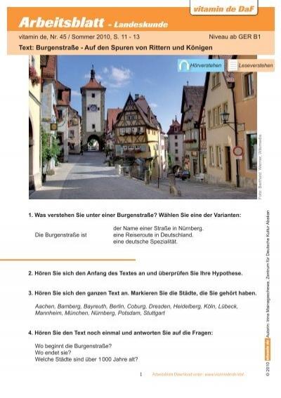 vitamin de DaF Arbeitsblatt - zum Thema Berlin - Deutsch lernen mit ...