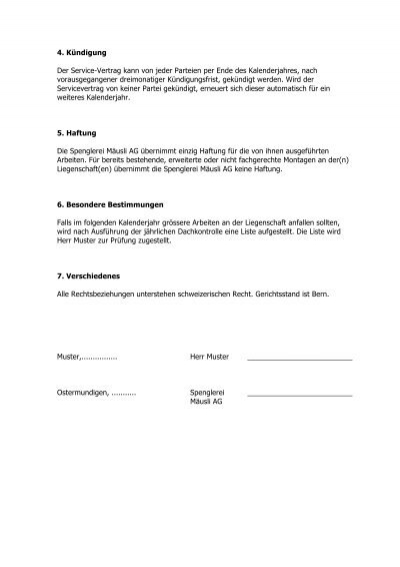 Ungewöhnlich Vorlage Für Persönlichen Servicevertrag Zeitgenössisch ...