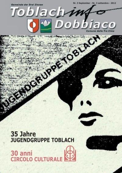 Toblach Info September 12 Fa R Druck Indd