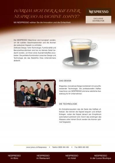 warum sich der kauf einer nespresso maschine lohnt lyreco. Black Bedroom Furniture Sets. Home Design Ideas
