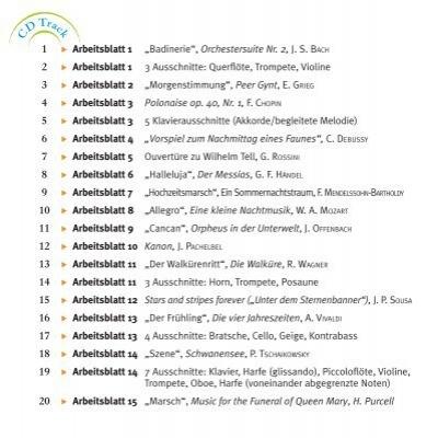 """C D Track C D T 1 x Arbeitsblatt 1 """"Badinerie"""", Orchestersuite Nr. 2 ..."""