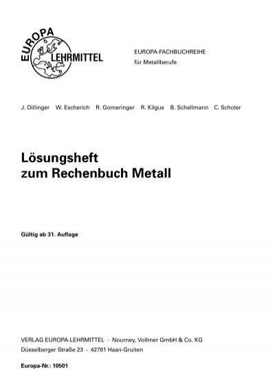 Rechenbuch metall: 9783808519820: amazon. Com: books.