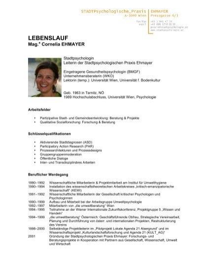 lebenslauf cornelia ehmayer stadtpsychologie - Cornelia Funke Lebenslauf