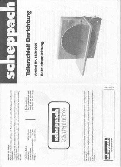 Scheppach - Handleiding - TSE-300.pdf - Woodworking.nl het ...