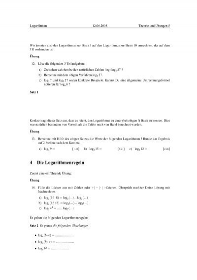 Enchanting Exponentialgleichungen Ohne Logarithmen Arbeitsblatt Mold ...