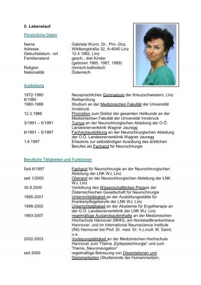B Lebenslauf Persönliche Daten Name Gabriele Wurm, Dr. Resume Builder Free Template. Sample Cover Letter For Resume General Counsel Position. Curriculum Vitae English Human Resources. Free Resume Maker Reddit. Curriculum Vitae Exemple Langues. Cover Letter Content. Mcmaster Cover Letter Guide. Resume My References