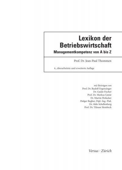 BWL-Lexikon