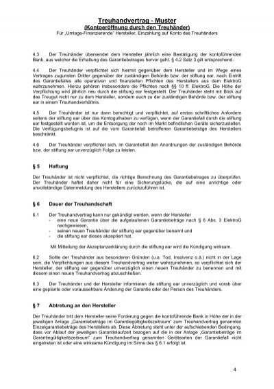 treuhandvertrag muster - Treuhandvertrag Muster