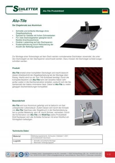alu tile schletter gmbh. Black Bedroom Furniture Sets. Home Design Ideas