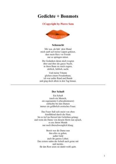 Du berührst mich gedicht