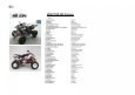 Bild 4 Quad ATV Triton Baja 250 300 400 450  ABDECKUNG VORNE MITTE ORANGE