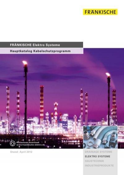 Hauptkatalog Kabelschutzprogramm FRÄNKISCHE Elektro Systeme