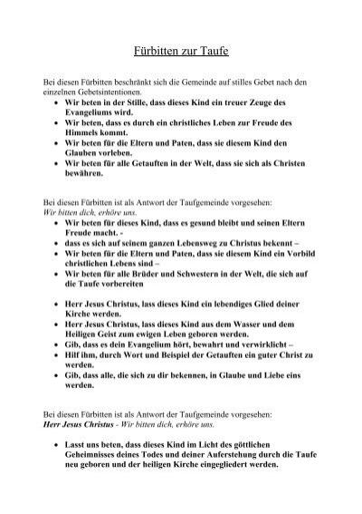 Fã¼rbitten Zur Taufe Pfarre Dornbach