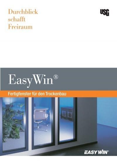 usg easywin brochure a4 bei knauf. Black Bedroom Furniture Sets. Home Design Ideas
