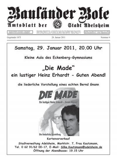 Die Made Ein Lustiger Heinz Erhardt Guten Abend Adelsheim
