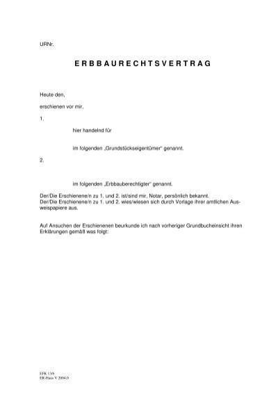Muster Erbbaurechtsvertrag Pfarrverband Garching Engelsberg