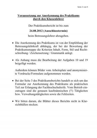 Praktikumsbericht Friedrich List Berufskolleg