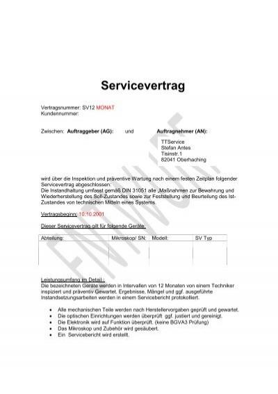 Fantastisch Vorlage Für Technische Servicevereinbarung Galerie ...