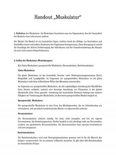 Handout Muskulatur - h-schlenke.de