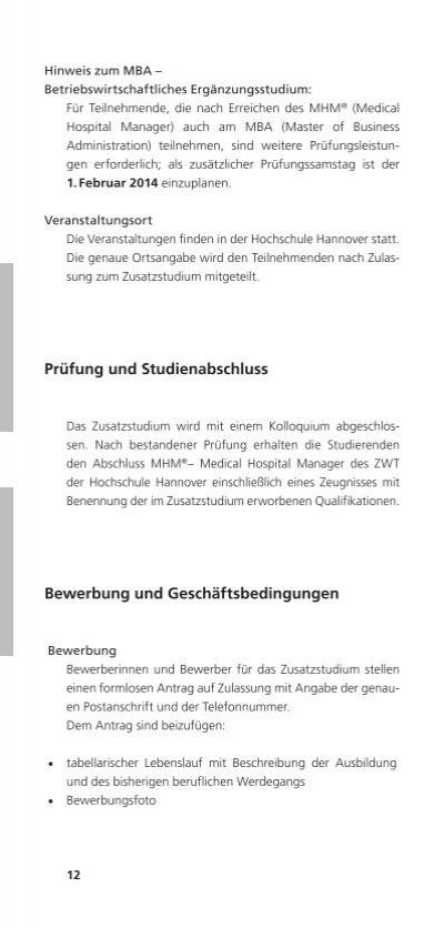 Ziemlich Lebenslauf Für Mba Hochschulen Fotos ...