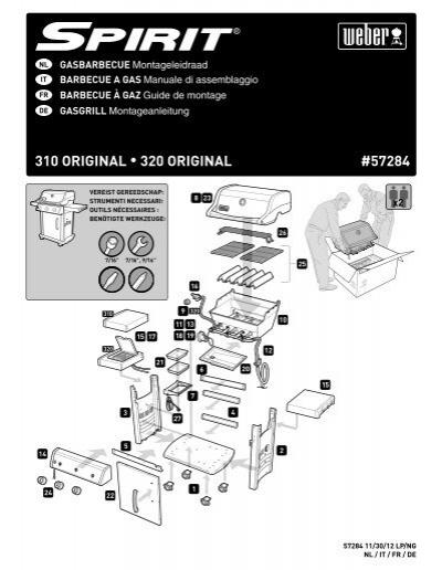 aufbauanleitung spirit original e 310 e 320 weber der grill. Black Bedroom Furniture Sets. Home Design Ideas